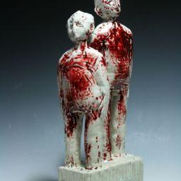 Herme's Muse. 2011 63cmh x 24cmw x 14cmd Hand coiled porcelain. Oxblood glaze.