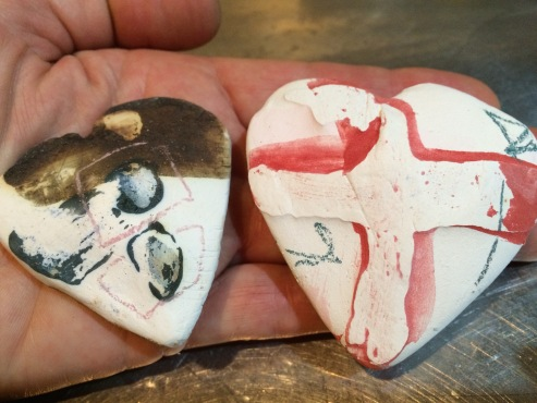 Porcelain hearts - detail